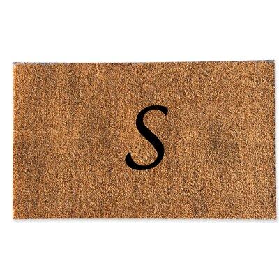 First Impression Monogrammed Doormat Letter: S