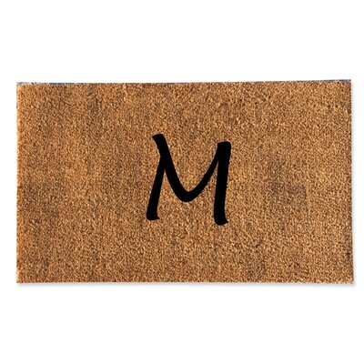 First Impression Monogrammed Doormat Letter: M