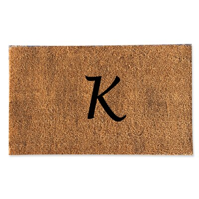 First Impression Monogrammed Doormat Letter: K