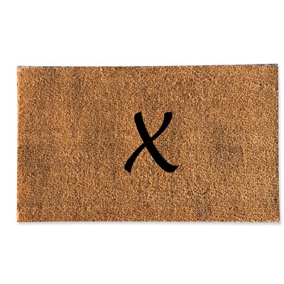 First Impression Monogrammed Doormat Letter: X
