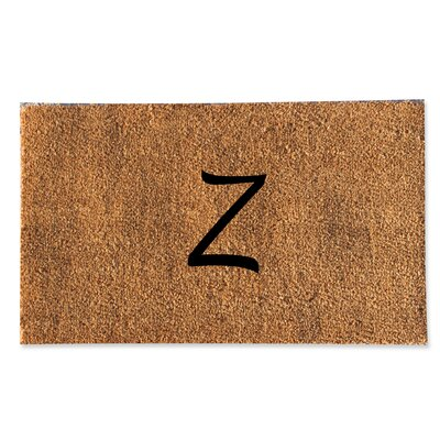 First Impression Monogrammed Doormat Letter: Z