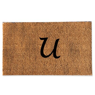 First Impression Monogrammed Doormat Letter: U