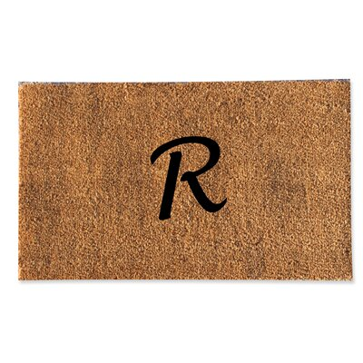 First Impression Monogrammed Doormat Letter: R