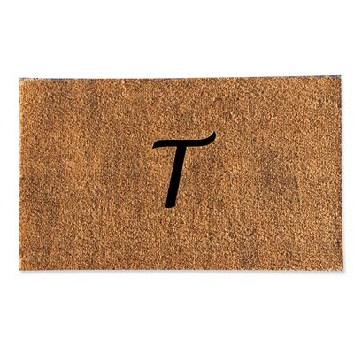 First Impression Monogrammed Doormat Letter: T