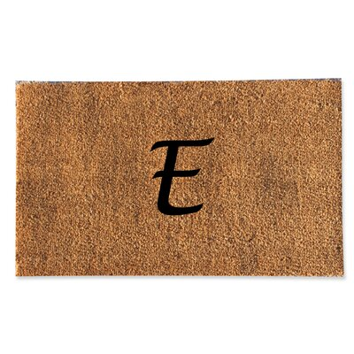 First Impression Monogrammed Doormat Letter: E