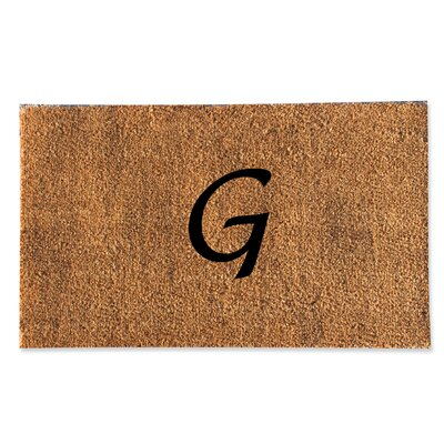 First Impression Monogrammed Doormat Letter: G