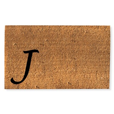 First Impression Monogrammed Doormat Letter: J