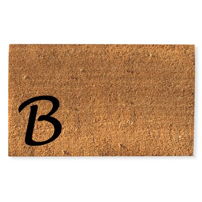 First Impression Monogrammed Doormat Letter: B