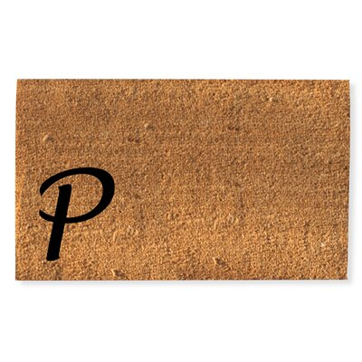 First Impression Monogrammed Doormat Letter: P