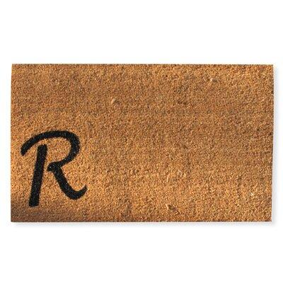 First Impression Monogrammed Doormat Letter: R