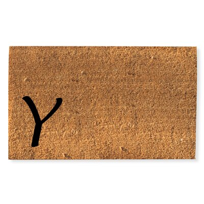First Impression Monogrammed Doormat Letter: Y