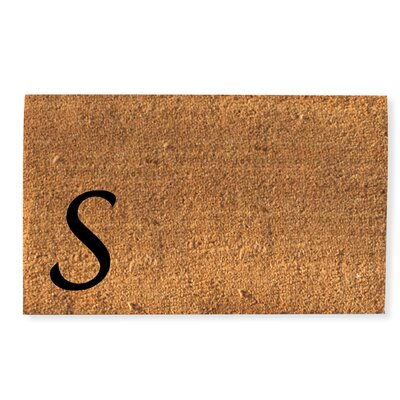 First Impression Monogrammed Doormat Letter: S