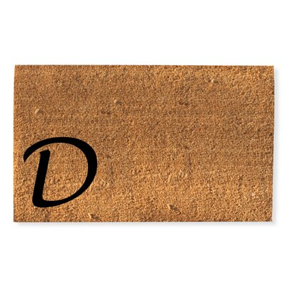First Impression Monogrammed Doormat Letter: D