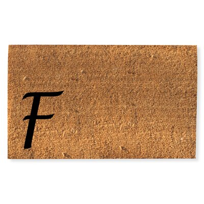 First Impression Monogrammed Doormat Letter: F