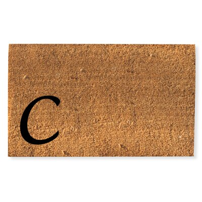 First Impression Monogrammed Doormat Letter: C