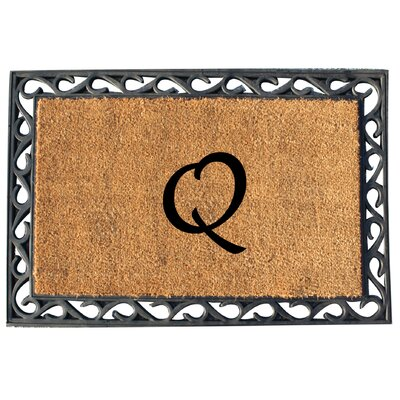 First Impression Tray Doormat Letter: Q