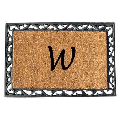 First Impression Tray Doormat Letter: W