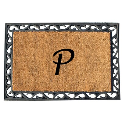 First Impression Tray Doormat Letter: P