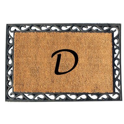 First Impression Tray Doormat Letter: D