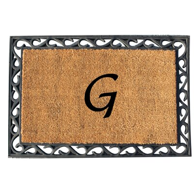 First Impression Tray Doormat Letter: G