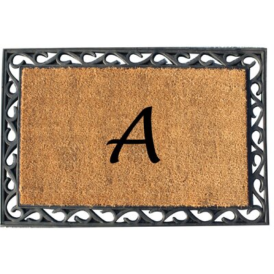 First Impression Tray Doormat Letter: A