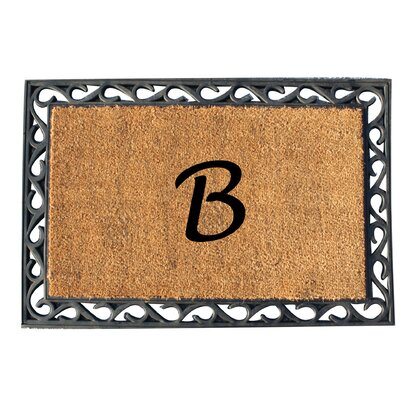 First Impression Tray Doormat Letter: B