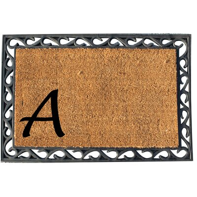 First Impression Doormat Letter: A