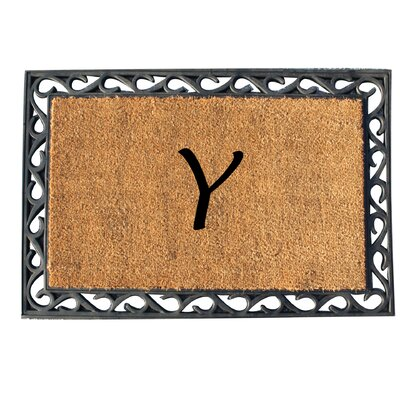First Impression Tray Doormat Letter: Y
