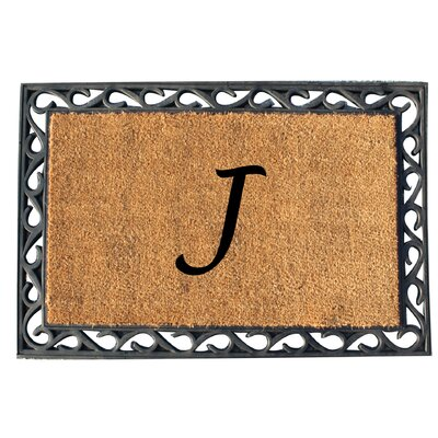 First Impression Tray Doormat Letter: J