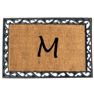First Impression Tray Doormat Letter: M
