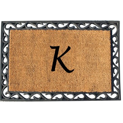 First Impression Tray Doormat Letter: K