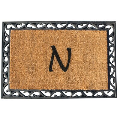 First Impression Tray Doormat Letter: N