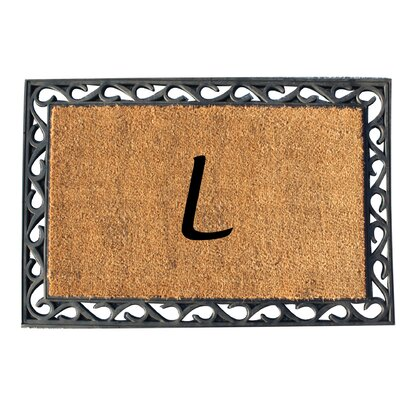 First Impression Tray Doormat Letter: L
