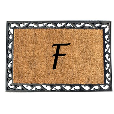First Impression Tray Doormat Letter: F