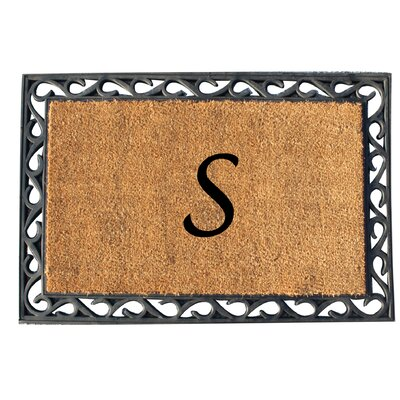 First Impression Tray Doormat Letter: S
