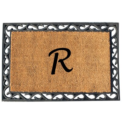 First Impression Tray Doormat Letter: R