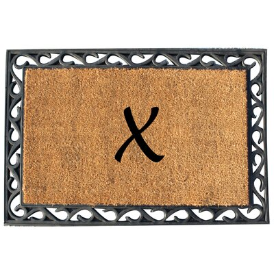 First Impression Tray Doormat Letter: X