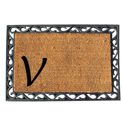 First Impression Doormat Letter: V