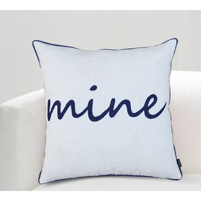 Norma Mine Cotton Throw Pillow