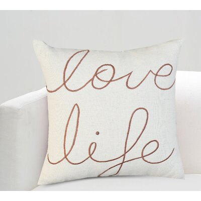 Alda Love Life Cotton Throw Pillow