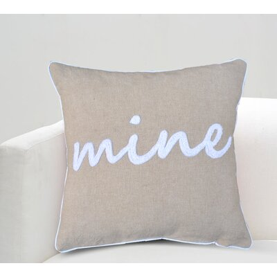 Alison Mine Cotton Throw Pillow