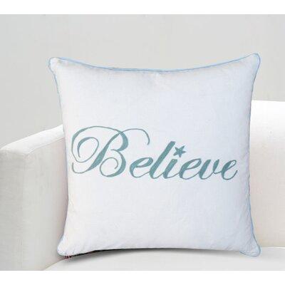 Nerita Believe Cotton Throw Pillow