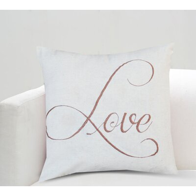 Beverly Love Cotton Throw Pillow