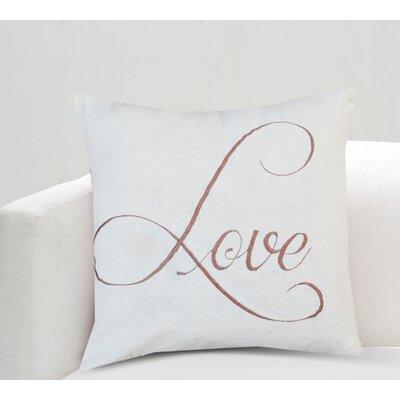 Beverly Love Cotton Throw Pillow