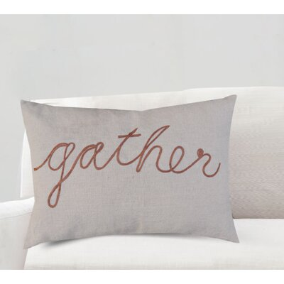 Agatha Gather Greeting Cotton Lumbar Pillow