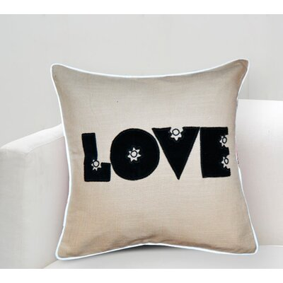 Handcrafted Sentiment in Love Cotton Throw Pillow