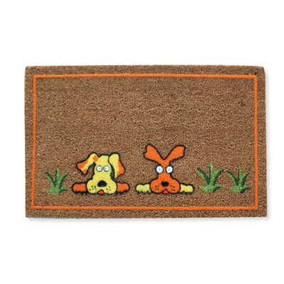Flocked Dogs Doormat