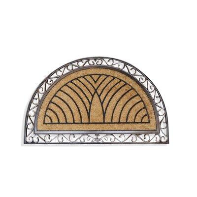 Elegant Half-round Double Doormat