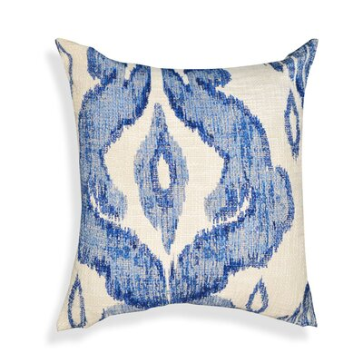 Shaded Ikat Cotton Throw Pillow