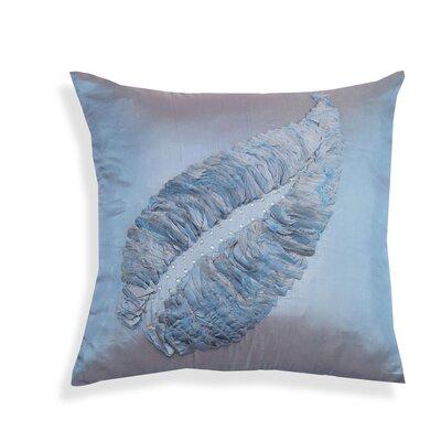 Leaf Motif Throw Pillow